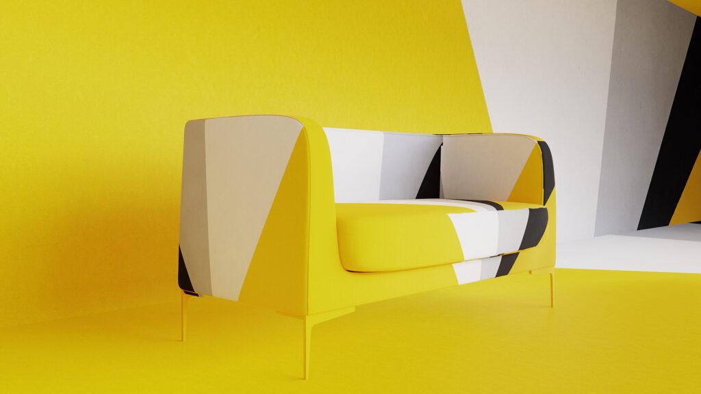 Camerus canapé location de mobilier canapé Delta couleurs Pantone 2021